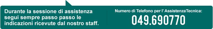 Numero di Telefono per l'AssistenzaTecnica